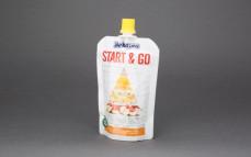 Przecier owocowy z jogurtem naturalnym i płatkami,  jabłko-banan-mango