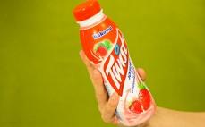 Porcja jogurtu o smaku poziomkowym