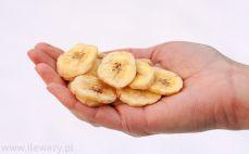 Garść suszonych bananów