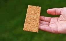 Kromka chrupkiego chleba żytniego