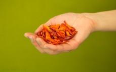 Garść plasterków papryki Crispy Natural