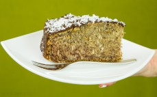 Kawałek ciasta bananowo - kokosowego