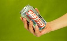 Porcja napoju gazowanego Coca Cola light