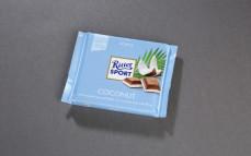 Ritter Sport coconut, czekolada mleczna nadziewana kremem mleczno-kokosowym (45%)