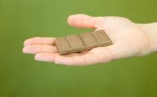 Rządek czekolady mlecznej bez laktozy