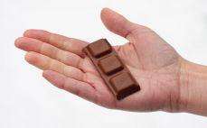 Rządek czekolady mlecznej
