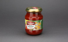 Esencja pomidorowa z bulionem drobiowym, zagęszczony sos pomidorowy z bulionem drobiowym