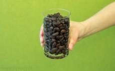 Szklanka ugotowanej czarnej fasoli