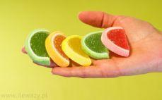 5 galaretek o smaku owocowym w cukrze