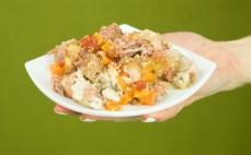 Porcja głowizny wieprzowej z warzywami w galarecie