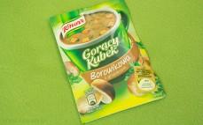 Zupa Borowikowa z grzankami Gorący Kubek