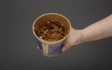 Porcja gryczotto grzyby i śliwki