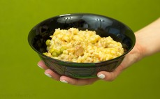 Porcja gyrosa wieprzowego z warzywami i ryżem