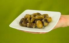 Porcja jadalnych kasztanów gotowanych