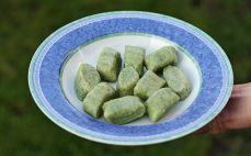 Porcja kopytek ze szpinakiem