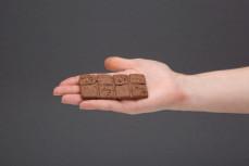 Tabliczka zbożowa z czekoladą, zbożowe ciasteczko z kawałkami czekolady