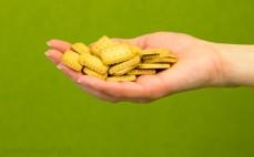 Garść mini herbatników z dodatkiem masła
