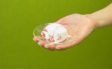 Gałka lodów jogurtowych z truskawkami Grycan