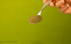 Łyżeczka mielonej łuski gryczanej