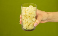 Szklanka makaronu ryżowego muszelki