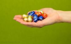 Garść jajeczek czekoladowych z nadzieniem