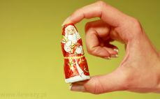 Mini Mikołaj z czekolady mlecznej