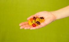 Garść żelków z sokami owocowymi Miśki