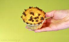 Muffinka o smaku waniliowym z czekoladą