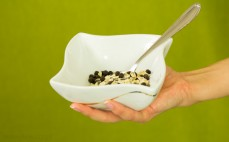 Porcja musli czekoladowego