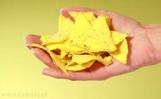 Garść nachos tortilla chips