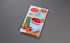 Owocowy kubek Fit, kisiel o smaku czerwonej porzeczki