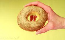 Pieczone pączki z dziurką