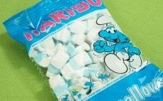 Pianki marshmallows Smerfy