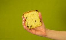 Placek drożdżowy z masłem i rodzynkami