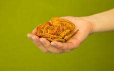 Garść plasterków pomidora z bazylią i oregano