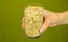 Szklanka płatków z pszenicy samopsza