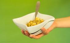 Porcja płatków ryżowo - pszennych z cynamonem
