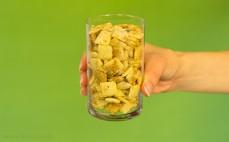 Szklanka płatków ryżowo - pszennych z cynamonem