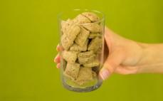 Szklanka poduszek z nadzieniem o smaku waniliowym