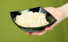 Porcja ryżu parboiled bez gotowania po przyrządzeniu