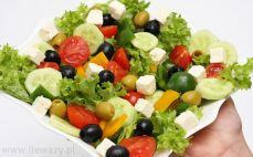 Porcja sałatki greckiej