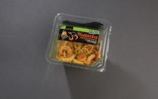 Sałatka makaronowa z sosem teriyaki i krewetkami