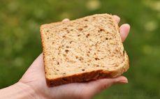 Kromka pieczywa sandwich z ziarnami