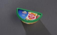 Ser kremowy topiony w kubku z serem Gouda