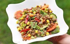 Porcja soczewicy z warzywami