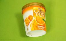 Lody sorbetowe pomarańczowe