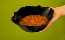 Porcja sosu pieczarkowego z podgrzybkiem