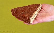 Kawałek tortu kakaowo-miodowego