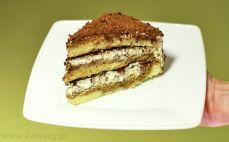Kawałek tortu tiramisu