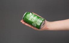 Porcja napoju vegan cola